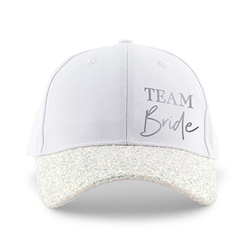 Women's Wedding Party Glitter Hats - Team Bride Design (2 Colors)