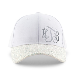 Women's Wedding Party Glitter Hats - Monogram Design ( 2 Colors)