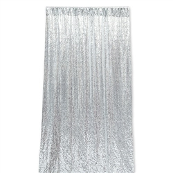 Photo Backdrop Decoration - Silver Sequin