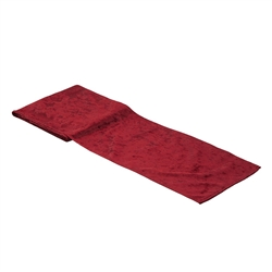 Velvet Table Runner - Ruby Red