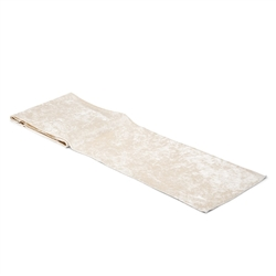 Velvet Table Runner - Ivory White