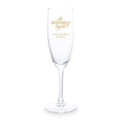 Personalized 5.75 Oz. Champagne Flute Wedding Favour