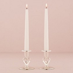 Suspended Heart Taper Candle Holders