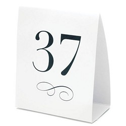 Table Numbers Tent Style Cards (Numbers 1-12)