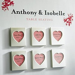 Mini Magnet Back Aluminum Heart Photo Frames (Set of 3)