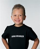 """Ring Bearer""  Wedding Iron On Transfer"