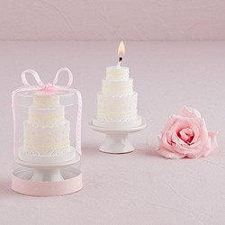 Elegant Lace Wedding Cake Candle