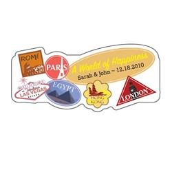 World of Happiness Sticker