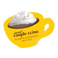 Couple-ccino Mocha Scented Candle Sticker