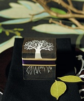 "Miniature Wooden Box with Lid - exclusive ""Tree Design"""