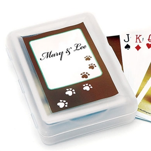 Wedding Hounds Design Playing Cards with personalized sticker (Sold in package of 12)