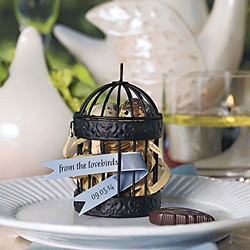 Miniature Classic Round Decorative Birdcages - Black (set of 4)