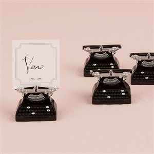 Vintage Typewriter Card Holder (pkg of 6)