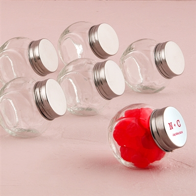 Mini Glass Candy Jar With Lid (pkg of 12)