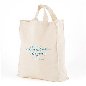 Large  Aqueous Personalized Tote Bag