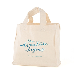 Mini Aqueous Personalized Tote Bag