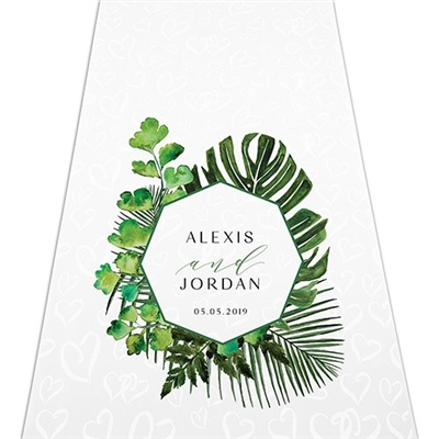 Greenery Personalized Aisle Runner