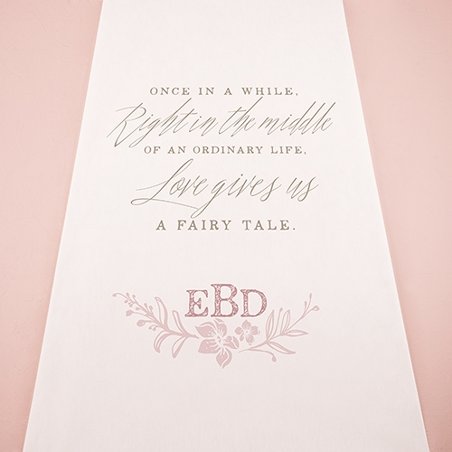 Modern Fairy Tale Personalized Aisle Runner
