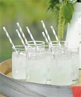 """Sippers"" Candy Striped Paper Straws (package of 75)"