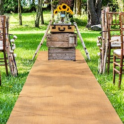 Burlap Aisle Runner (1 m wide x 15 meters Long)