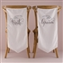 Feather Whimsy Bride And Groom Chair Banner Set