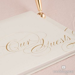 Pure Elegance Special Occasion Guest Book And Pen With Blank Pages