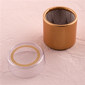 Art Deco Cylinder Boxes With Clear Lid (pkg of 6)