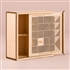 Cubist Laser Cut Natural Wood Keepsake Box