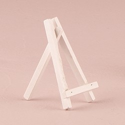 White Wooden Easels - Small (Set of 6)