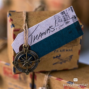 """Well Traveled"" Vintage Paper Shipping Tags With Twine Ties (Package of 12)"