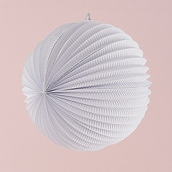 Watermelon Round Paper Lantern In White