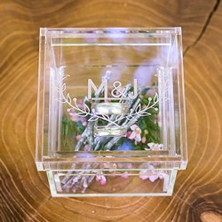 Woodland Pretty Personalized Unique Alternative Acrylic Wedding Ring Box