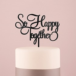 So Happy Acrylic Cake Topper