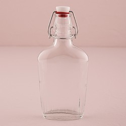 Vintage Inspired Clear Glass Flask