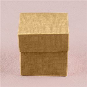 Lustrous Gold Favor Box With Lid (Package of 10)