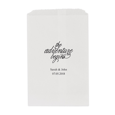 """the Adventure Begins"" Printed Flat Paper Goodie Bag(set of 25)"