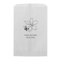 Floral Butterfly Printed Flat Paper Goodie Bag (set of 25)