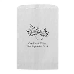 Fall Leaf Printed Flat Paper Goodie Bag (set of 25)