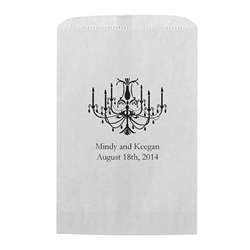 Elegant Chandelier Printed Flat Paper Goodie Bag (set of 25)