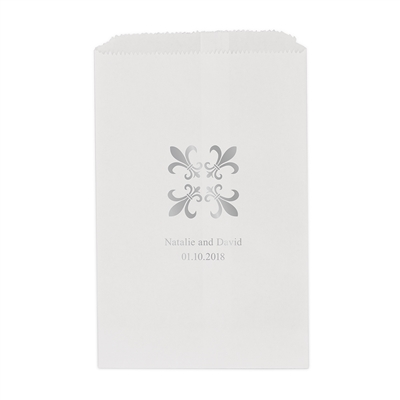 Fleur-De-Lis Printed Flat Paper Goodie Bag (set of 25)
