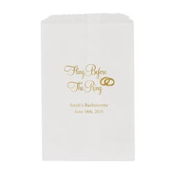 Fling Before The Ring Flat Paper Goodie Bag  (set of 25)