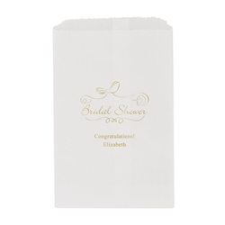 Bridal Shower Printed Flat Paper Goodie Bag (set of 25)