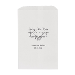 Tying the Knot Printed Flat Paper Goodie Bag (set of 25)