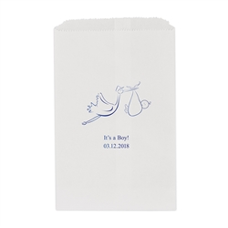 Stork Printed Flat Paper Goodie Bag (set of 25)