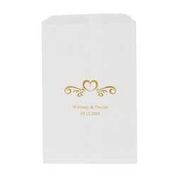 Heart Swirl Printed Flat Paper Goodie Bag (set of 25)