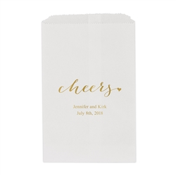 """cheers"" Printed Flat Paper Goodie Bag (set of 25)"