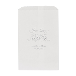 Heart Filigree Printed Flat Paper Goodie Bag (set of 25)
