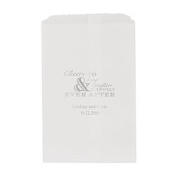 Wedding Cheer Printed Flat Paper Goodie Bag (set of 25)