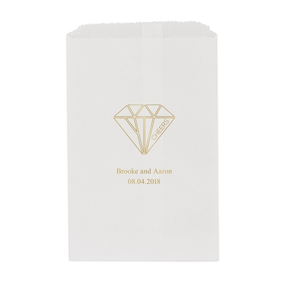 Cheers Geometric Diamond Printed Flat Paper Goodie Bag (set of 25)