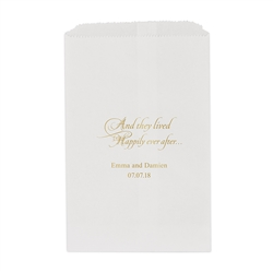 Happily Ever After Printed Flat Paper Goodie Bag (set of 25)